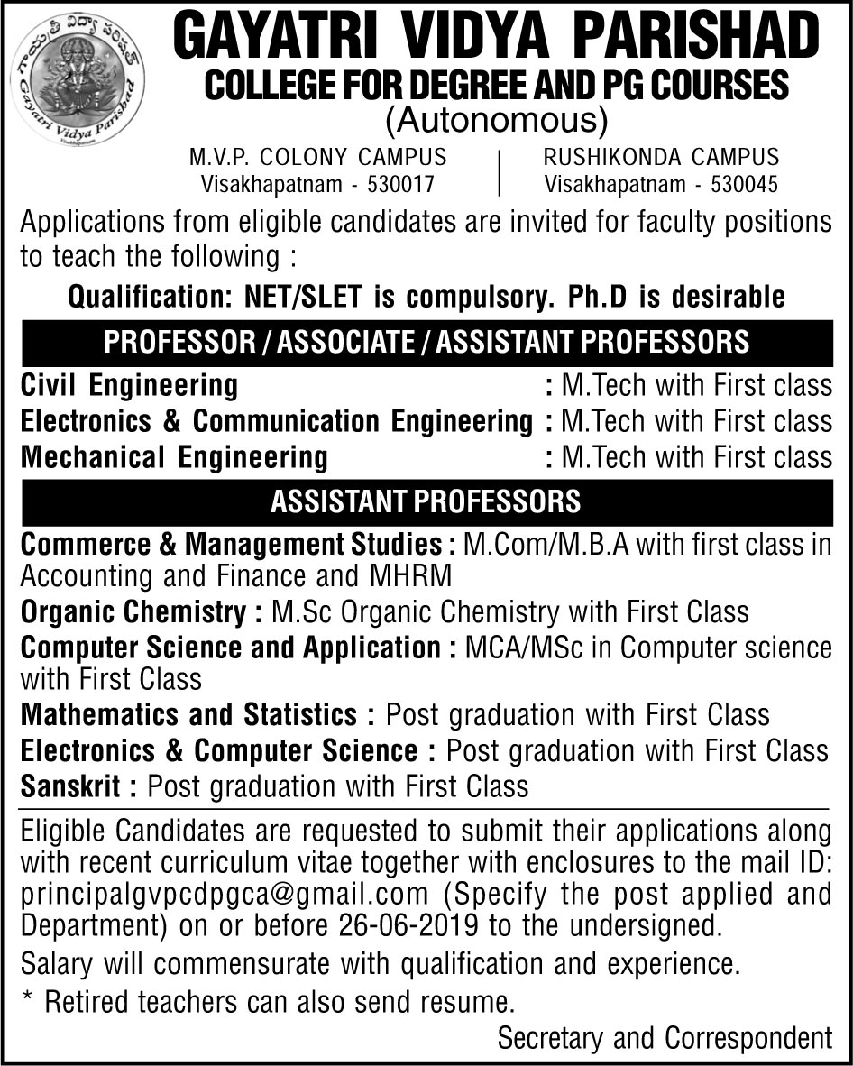 Faculty Recruitment 2019-20.